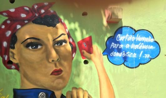 BrazilFoundation NAMI Feminista Arte Urbana Rio de Janeiro Graffiti Violencia Doméstica Lei Maria da Penha ONG Domestic Violence