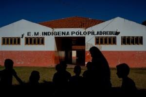Escola indígena em Miranda no Mato Grosso do Sul atende duas aldeias da etnia Terena