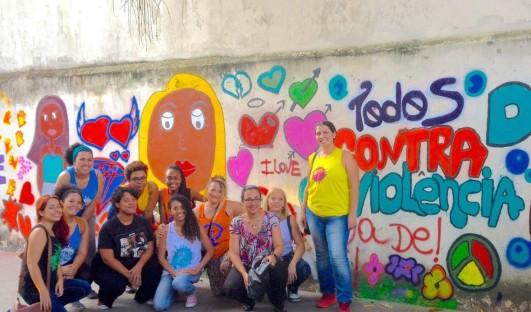 BrazilFoundation Rede NAMI Rio de Janeiro Graffiti Violência contra a Mulher ONG Projeto Social Social Project