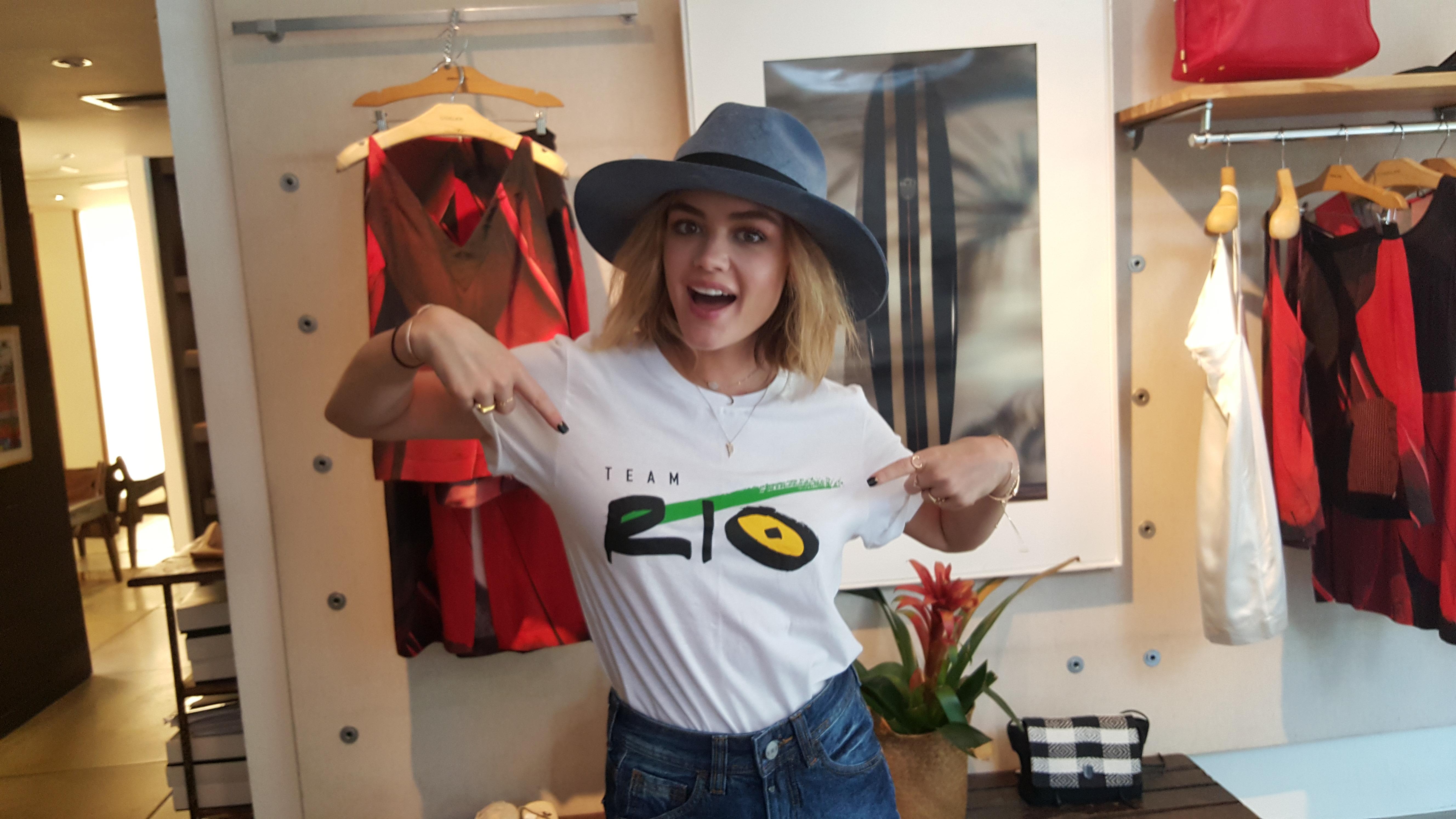 BrazilFoundation TeamRio Lucy Hale