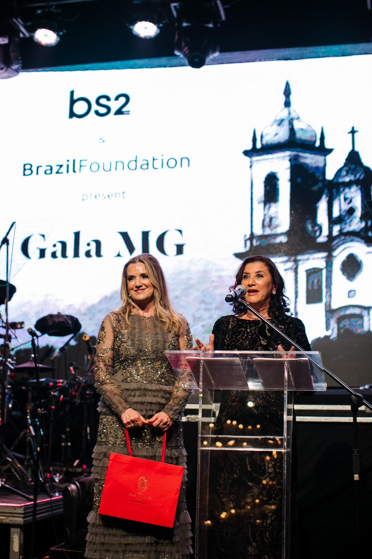 Virginia Bartolomeo, Denise Magalhães BrazilFoundation Gala Minas Gerais 2018