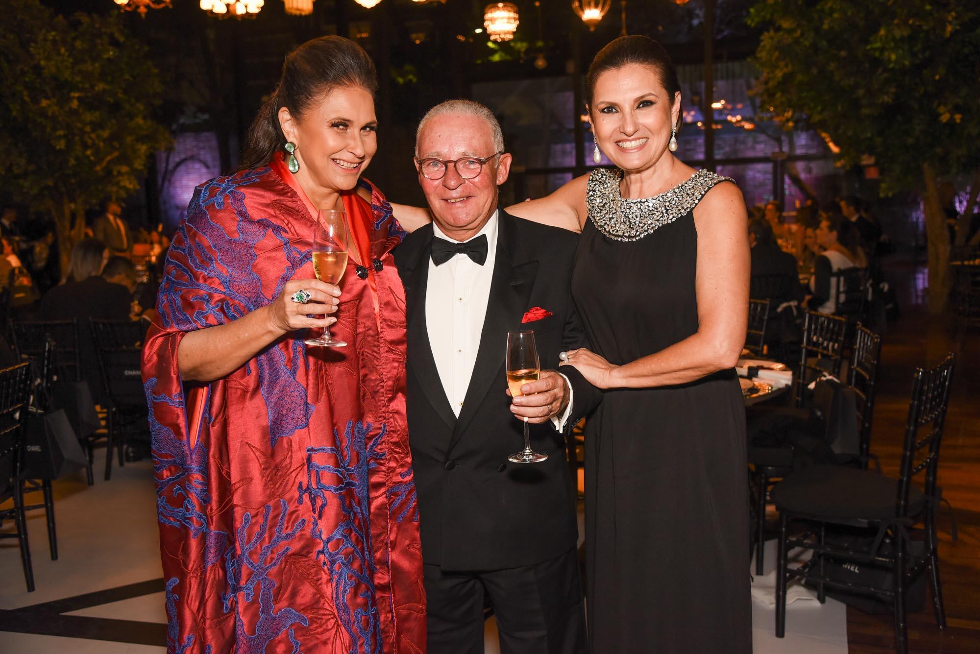 Fafa de Belem, Philippe de Nicolay Rothschild e Cris Lotaif V BrazilFoundation Gala São Paulo Chanel 2018 Filantropia Brasil Philanthropy Brazil