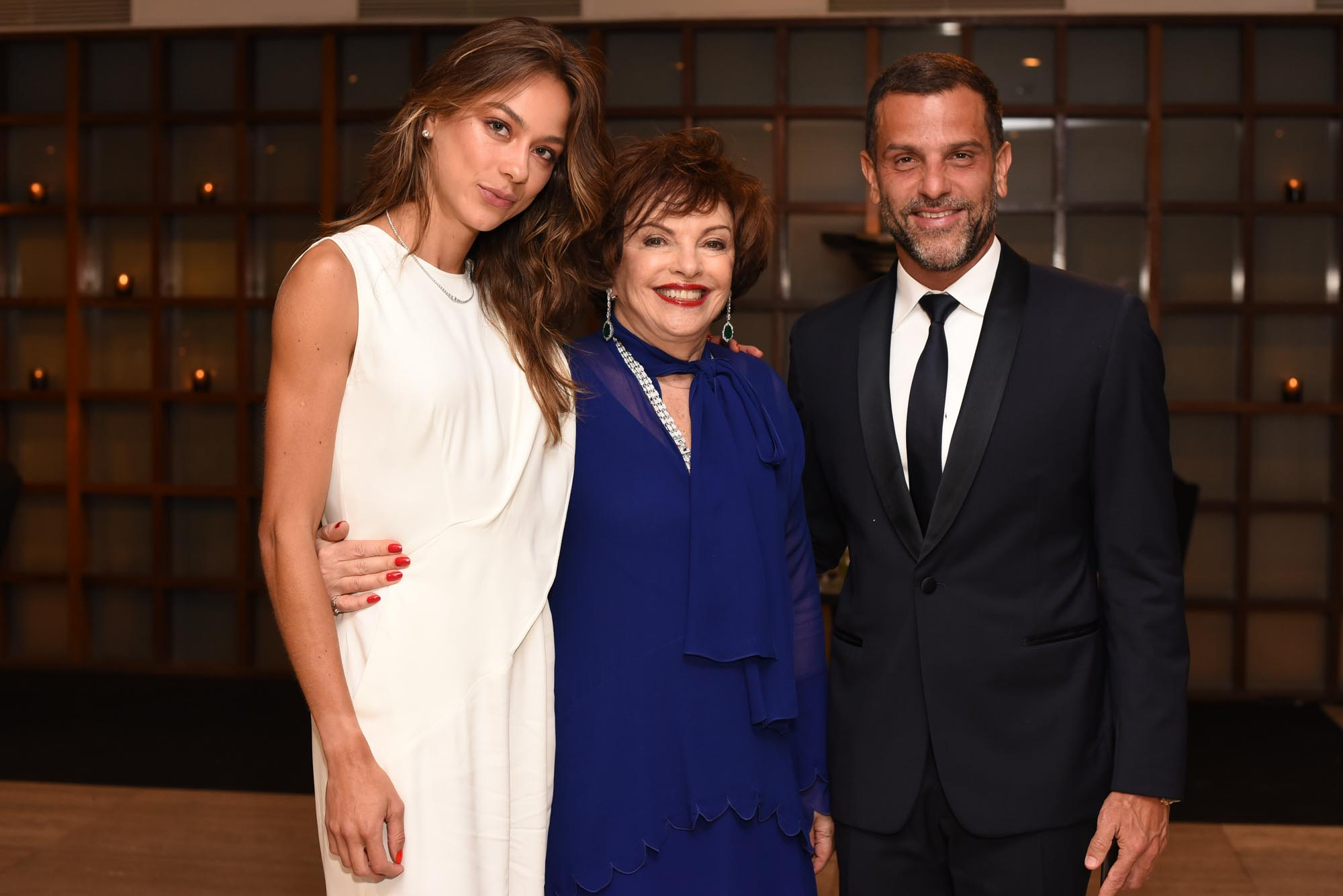 Ellen Capri, Anna Schvartzman, Alexandre Birman V BrazilFoundation Gala São Paulo Chanel 2018 Filantropia Brasil Philanthropy Brazil