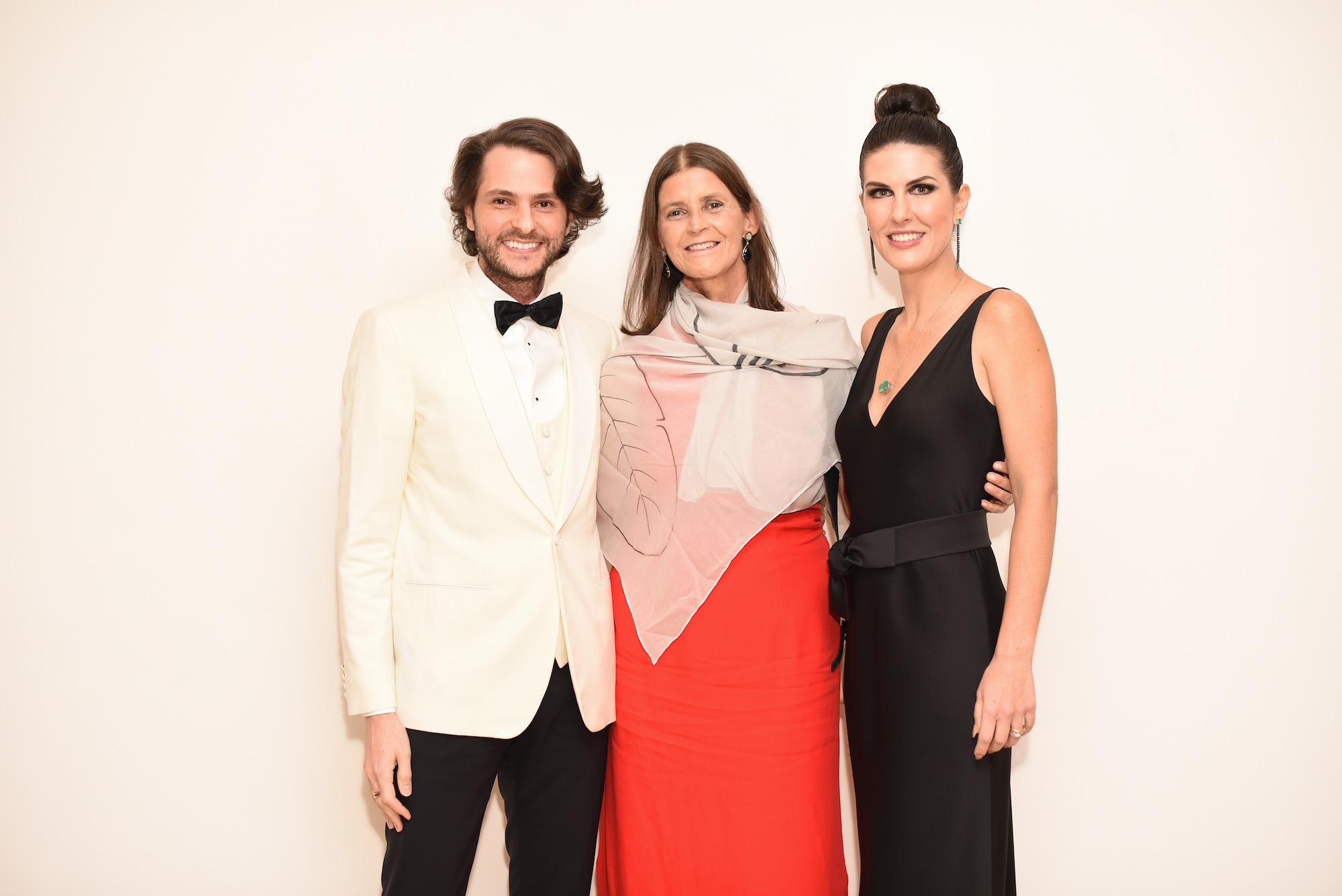 Michel Saflatle, Tarsila do Amaral e Andrea Bartelle V BrazilFoundation Gala São Paulo Chanel 2018 Filantropia Brasil Philanthropy Brazil