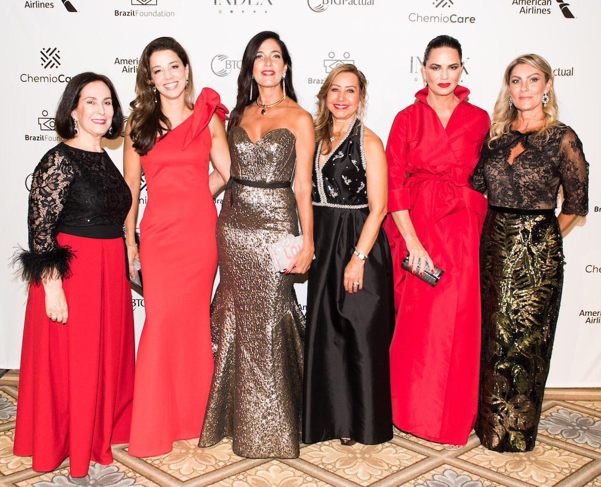 Host Committee - Angela Magarian, Michelle Viana, Paula Reidbord, Iracilda Lichtinger BrazilFoundation Gala New York Philanthropy Brazil